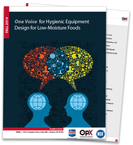 One Voice for Hygienic Equipment Design for Low-Moisture Foods